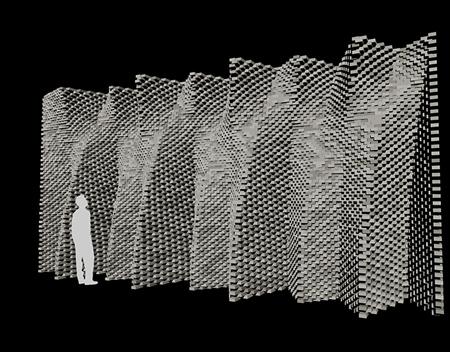 Dự án nghiên cứu kiến tạo các mặt ngoài bằng gạch thành các bức tường lượn sóng